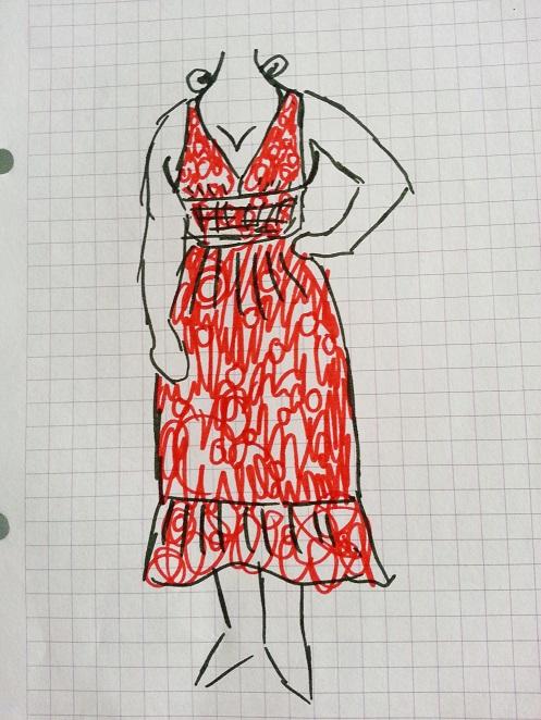 polka dot dress alteration (1)