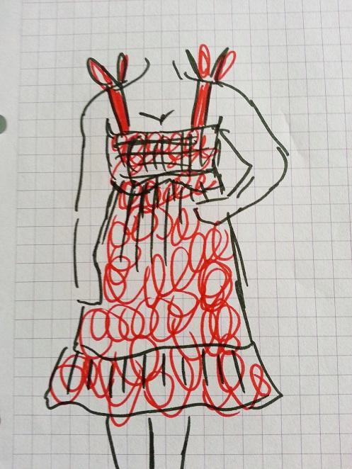 polka dot dress alteration (2)