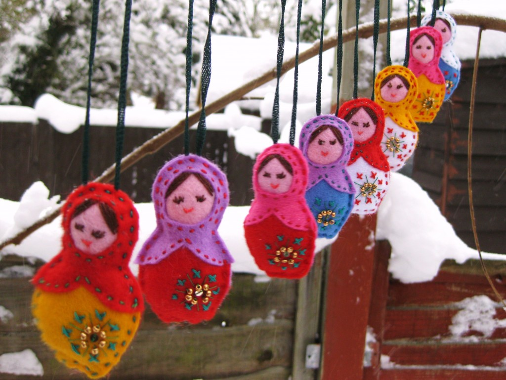 Matryoshka Christmas Decorations